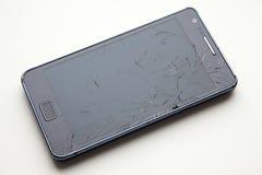 Teléfono quebrado de la exhibición Imagenes de archivo