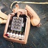 Teléfono quebrado de la oficina Imagen de archivo