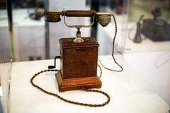 Teléfono retro alto Imágenes de archivo libres de regalías