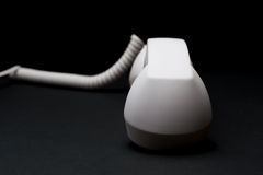 Teléfono retro blanco Imagen de archivo libre de regalías