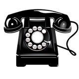 Teléfono retro del estilo libre illustration