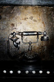 Teléfono retro negro viejo Imagen de archivo