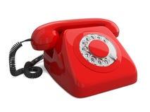 Teléfono retro rojo Foto de archivo libre de regalías