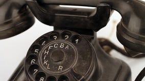 Teléfono retro viejo almacen de metraje de vídeo