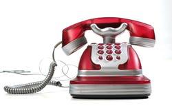 Teléfono rojo 3 Fotos de archivo libres de regalías