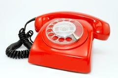 Teléfono rojo Fotografía de archivo libre de regalías