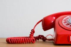 Teléfono rojo Fotos de archivo