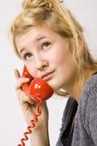 Teléfono rojo imágenes de archivo libres de regalías