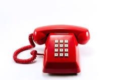 Teléfono rojo de la vendimia Foto de archivo libre de regalías