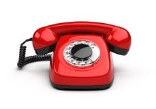 Teléfono rojo retro Foto de archivo