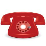 Teléfono rojo viejo Imagen de archivo libre de regalías