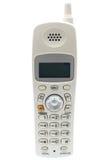 Teléfono sin cuerda blanco. Frente Imagen de archivo libre de regalías