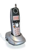 Teléfono sin cuerda en horquilla Fotografía de archivo libre de regalías