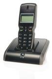 Teléfono sin hilos negro Imágenes de archivo libres de regalías