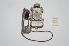 Teléfono soviético viejo Imagen de archivo