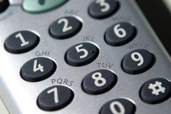 Teléfono, telclado numérico fotos de archivo