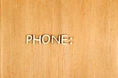 teléfono texto Imágenes de archivo libres de regalías