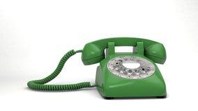 Teléfono verde Foto de archivo libre de regalías
