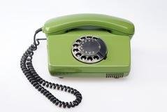 Teléfono verde de la vendimia Imagen de archivo libre de regalías