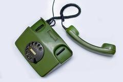 Teléfono verde viejo Fotografía de archivo libre de regalías
