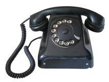 Teléfono viejo aislado Fotografía de archivo