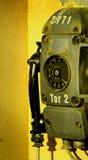 Teléfono viejo de la industria Imágenes de archivo libres de regalías