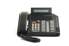 Teléfono viejo de la oficina Fotos de archivo