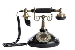 Teléfono viejo del negro de la vendimia Fotografía de archivo libre de regalías