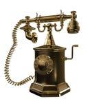 Teléfono viejo del oro Imágenes de archivo libres de regalías