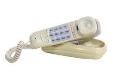 Teléfono viejo enrrollado con la trayectoria de recortes Imágenes de archivo libres de regalías