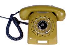Teléfono y cabels retros Imagenes de archivo