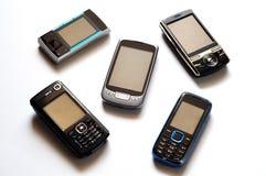 Teléfonos celulares Fotos de archivo libres de regalías