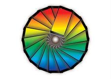 Teléfonos celulares del arco iris Imagen de archivo libre de regalías