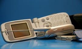Teléfonos celulares desechados Imágenes de archivo libres de regalías