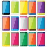 Teléfonos coloreados Imagenes de archivo