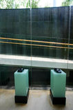 Teléfonos de la casa del pasillo del hotel Fotografía de archivo