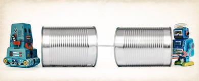Teléfonos de la lata imagen de archivo libre de regalías