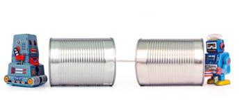 Teléfonos de la lata imagen de archivo
