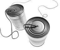 Teléfonos de la lata Fotografía de archivo libre de regalías