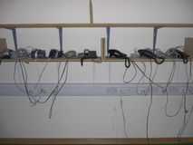 Teléfonos del cambio de imagen de la oficina Imagen de archivo
