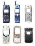 Teléfonos móviles viejos imágenes de archivo libres de regalías