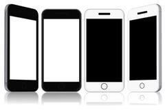 Teléfonos modernos de la pantalla táctil, ejemplo del vector Imagen de archivo