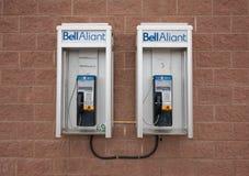 Teléfonos públicos de Bell Aliant Foto de archivo libre de regalías