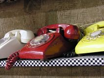 Teléfonos retros Imagen de archivo libre de regalías