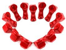 Teléfonos rojos en amor Imagenes de archivo