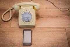 Teléfonos viejos y nuevos Fotografía de archivo libre de regalías