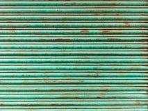 Telón de acero verde Imagen de archivo libre de regalías