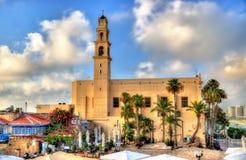Tel的Aviv贾法角圣皮特圣徒・彼得的教会 免版税库存照片