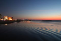 tel захода солнца пляжа aviv Стоковое Изображение RF