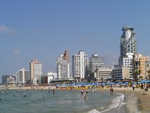 tel пляжа aviv Стоковые Изображения RF